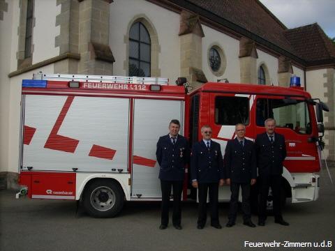 Ein Teil der Altersabteilung der Freiwillige Feuerwehr Zimmern u.d.B.
